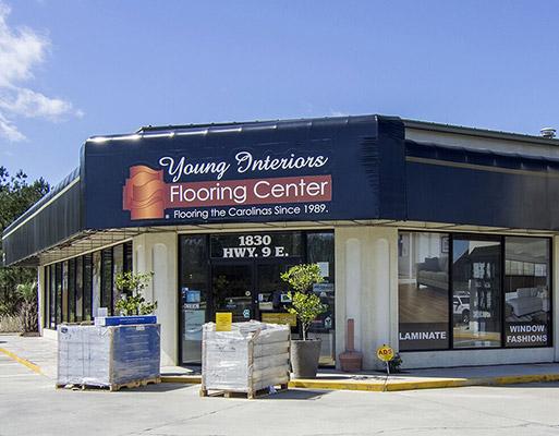Young Interiors Flooring Center in Longs, South Carolina - Showroom Exterior