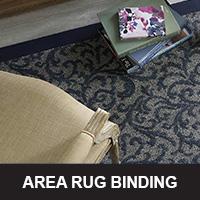 Area rug binding